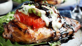 Grilled Avocado Caprese Chicken