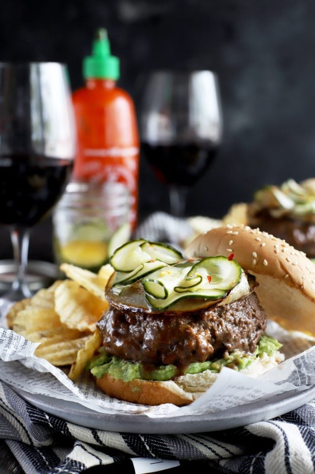 A grilled burger for your next party