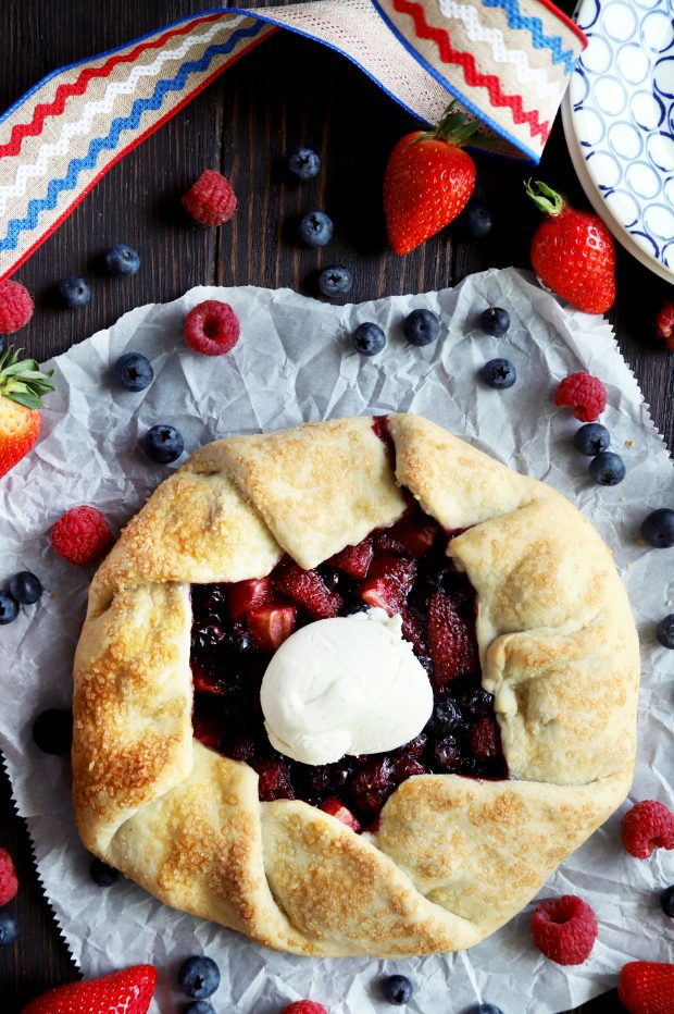 Fresh out of the oven berry galette
