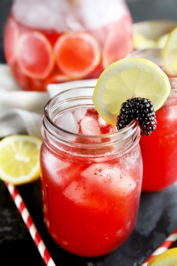 Summer cocktail in mason jars