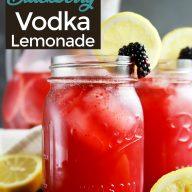 Sparkling Blackberry Vodka Lemonade pinterest image