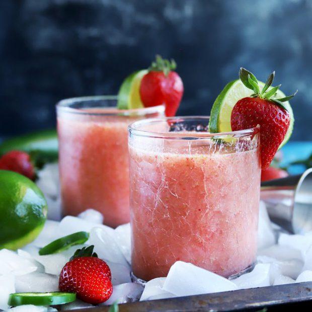 Strawberry Jalapeno Margaritas thumbnail