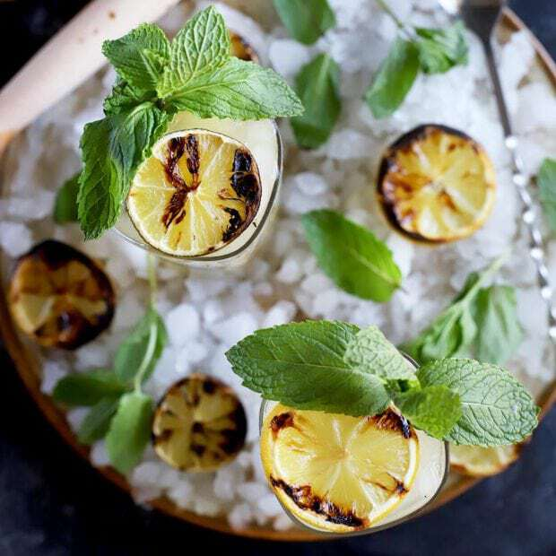 Grilled Lemon Lime Mojito Cocktail