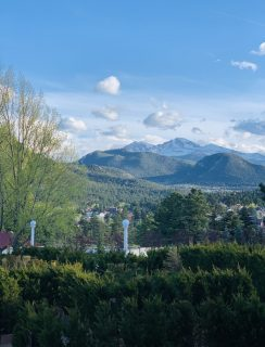 Estes Park Colorado view from the Stanley Hotel