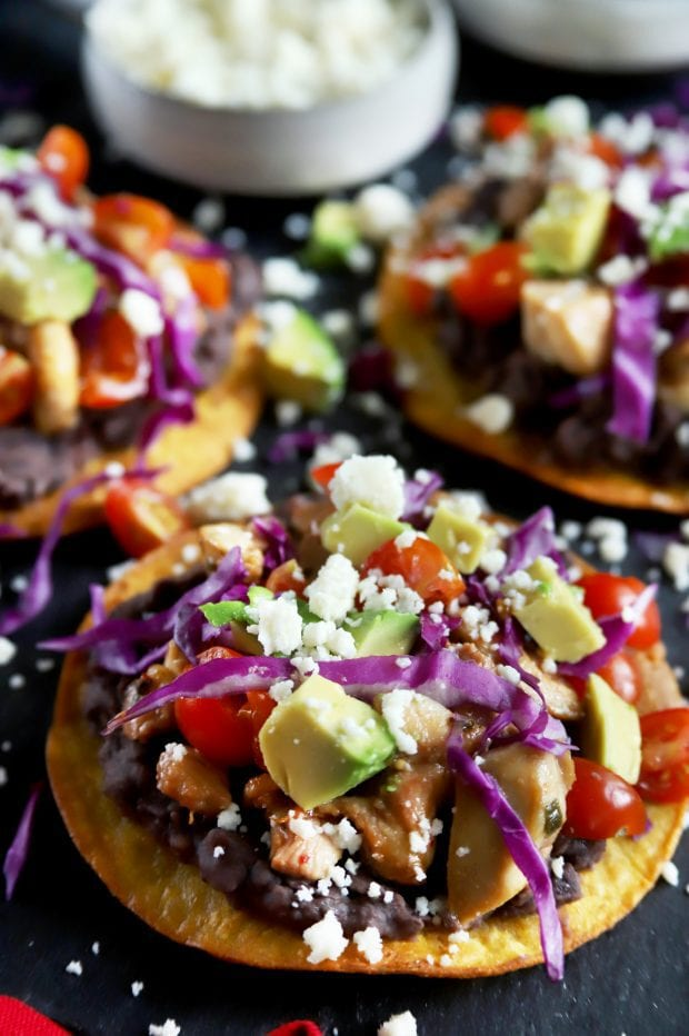 Close up tostada photograph