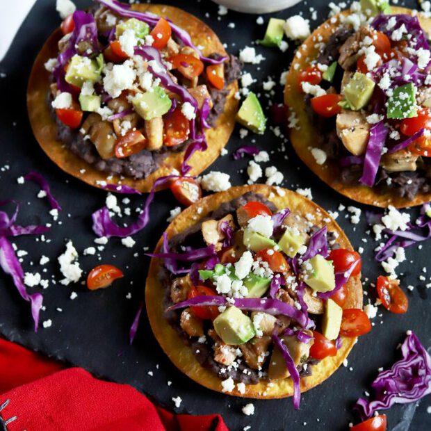 Pollo asado chicken tostadas thumbnail image