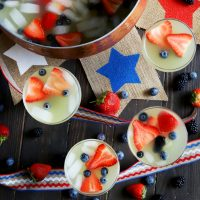 Red White And Blue Brunch Punch