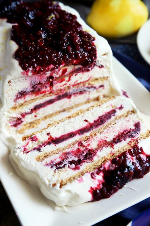 Layered icebox cake