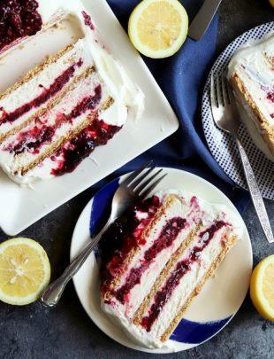 Blackberry lemon icebox cake thumbnail image