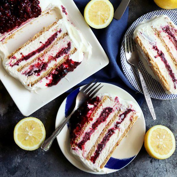 Blackberry Lemon Icebox Cake