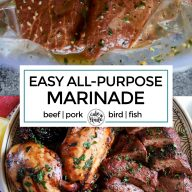 Easy all purpose marinade Pinterest image