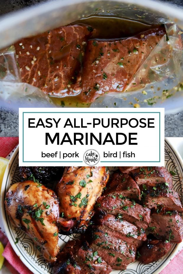 Easy all purpose marinade Pinterest image