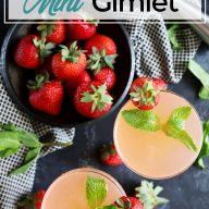 Strawberry Mint Vodka Gimlet Pinterest image