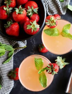 Strawberry mint vodka gimlet thumbnail image
