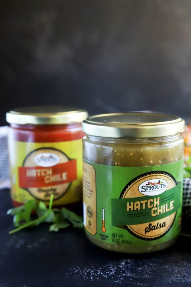 Picture of hatch chile salsas from Sprouts Farmers Market