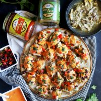 Hatch Green Chile Mini Chicken Nachos