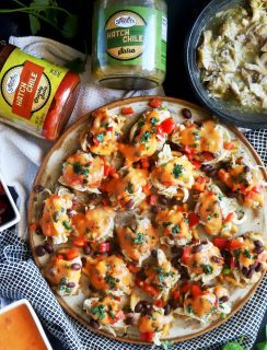 Hatch green chile mini chicken nachos thumbnail image