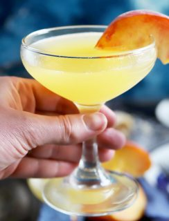 Thumbnail image of peach breakfast martini