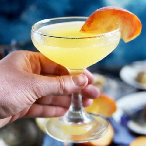 Thumbnail image of peach breakfast martini