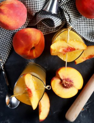 Peach highball cocktail thumbnail image