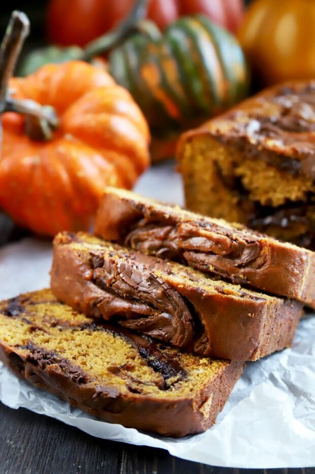 Spiced pumpkin bread with banana