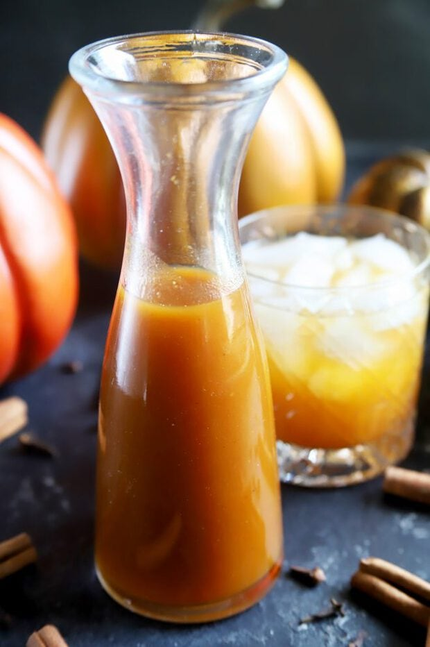 Pumpkin flavored syrup and cocktails