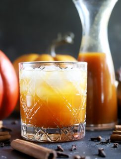 Pumpkin cocktails and syrup