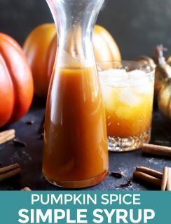 Pinterest image for pumpkin spice simple syrup