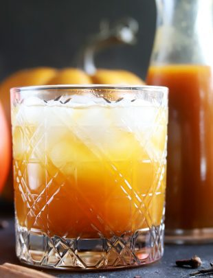 Pumpkin spice simple syrup cocktail thumbnail