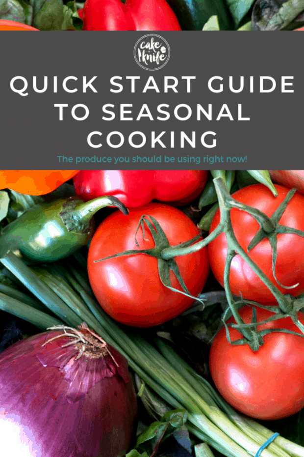 Pinterest image for quick start guide to seasonal cooking