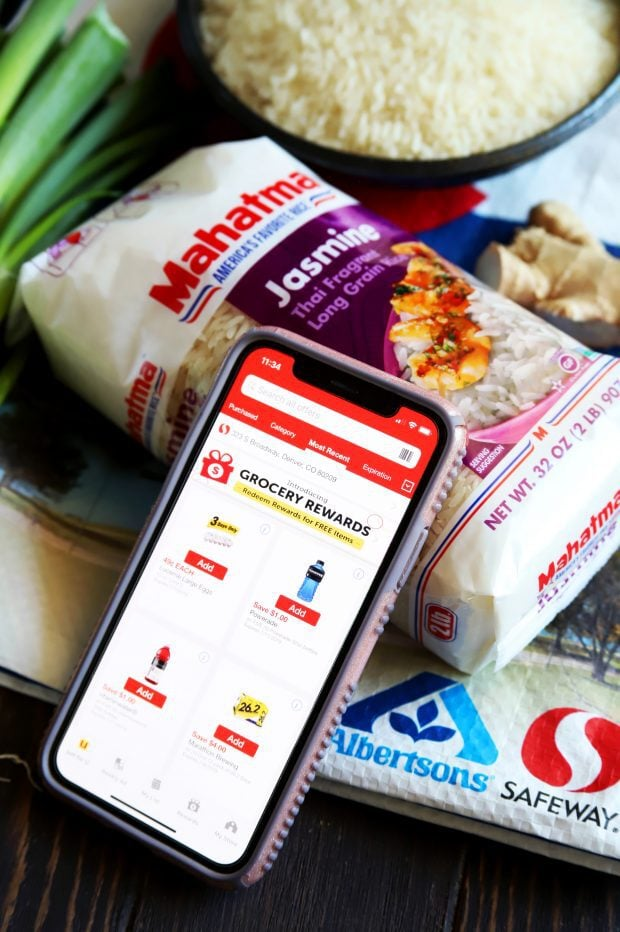 Safeway mobile app on iPhone