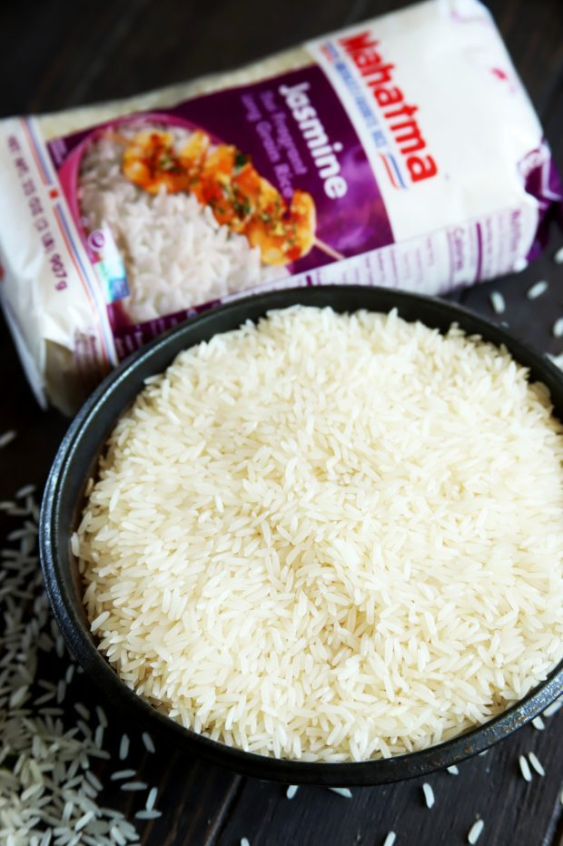 Jasmine rice in a bowl