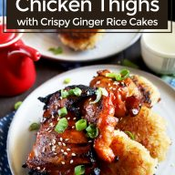 Pinterest image for Spicy Korean chicken thighs