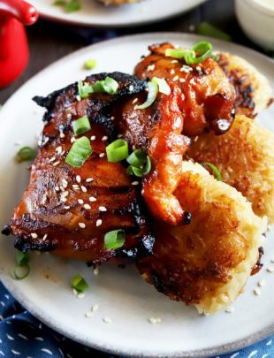 Spicy Korean chicken thighs thumbnail image