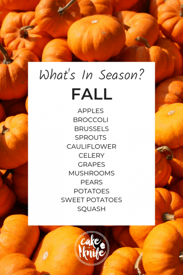 what's in season for fall cooking