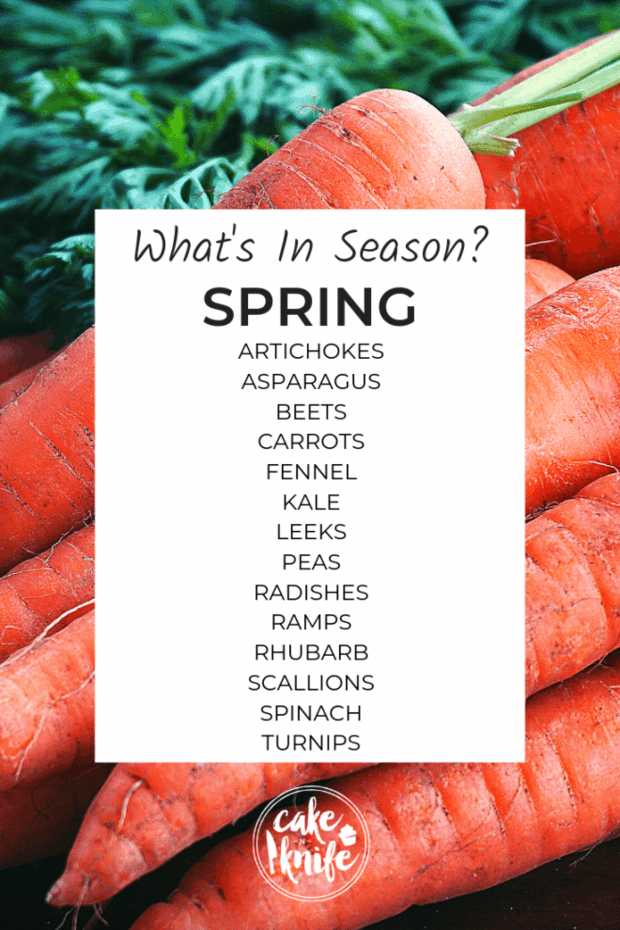 what's in season for spring cooking