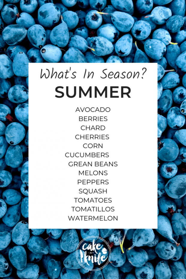 what's in season for summer cooking