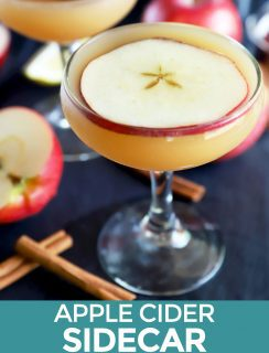 Apple Cider Whiskey Sidecar Cocktail Pinterest image
