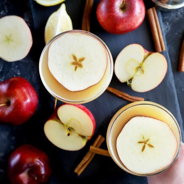 Apple Whiskey Sidecar Cocktail