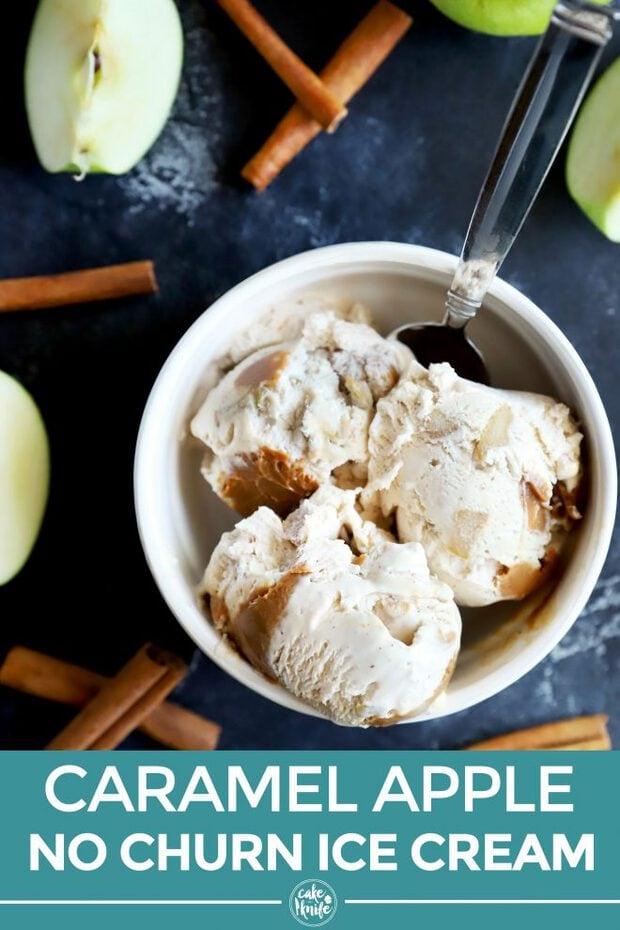 Caramel apple ice cream Pinterest image
