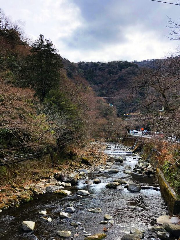 Hakone Japan river and grief