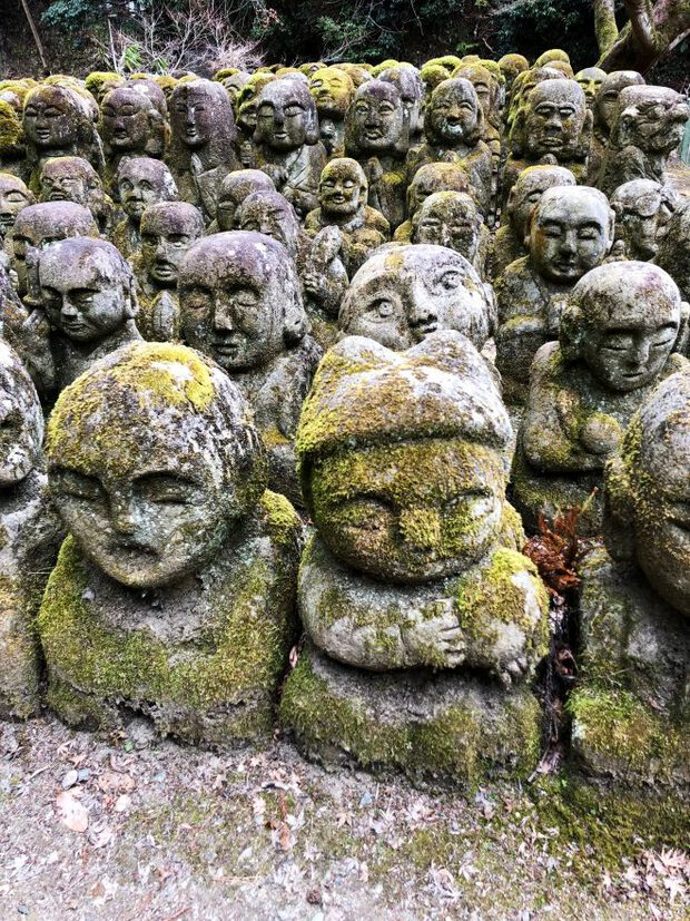 Buddha statues in Kyoto, Japan