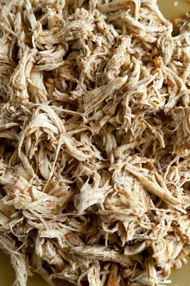 Pulled Jamaican jerk chicken