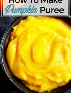 How To Make Pumpkin Puree Pinterest image