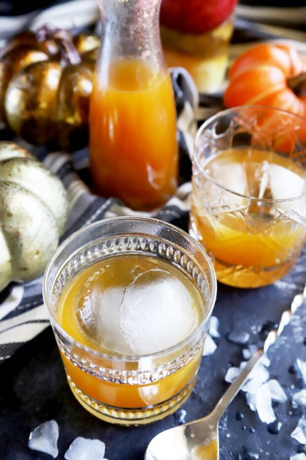 Cocktails with pumpkin and bourbon