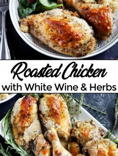 Roasted chicken recipe Pinterest Image