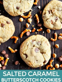Pinterest image of chocolate chip cookies