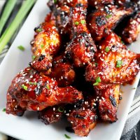 Crispy Korean BBQ Chicken Wings