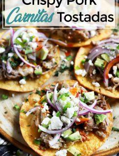 Instant Pot carnitas tostadas Pinterest image