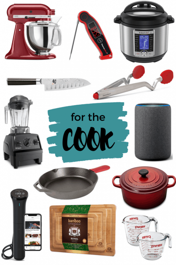 Round up image for a gift guide for cooks